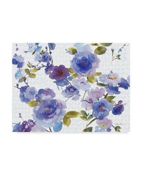 """Trademark Global Marietta Cohen Art And Design 'Rose Dust Blue' Canvas Art - 32"""" x 24"""""""