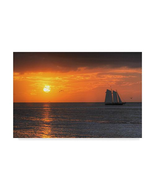 "Trademark Global Robert Goldwitz 'Clipper Sunset' Canvas Art - 32"" x 22"""