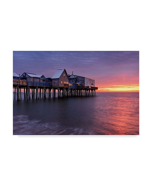 """Trademark Global Michael Blanchette Photography 'Sunrise At The Pier' Canvas Art - 47"""" x 30"""""""