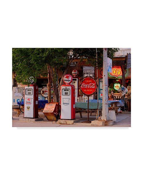 "Trademark Global Mike Jones Photo 'Rt 66 Near Peach Springs Pumps' Canvas Art - 47"" x 30"""