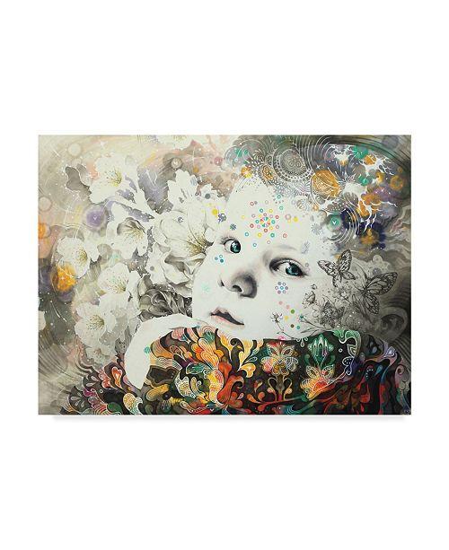 "Trademark Global Minjae 'Blooming' Canvas Art - 47"" x 35"""
