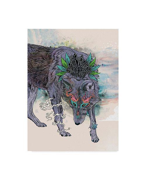 """Trademark Global Mat Miller 'Journeying Spirit Wolf' Canvas Art - 35"""" x 47"""""""