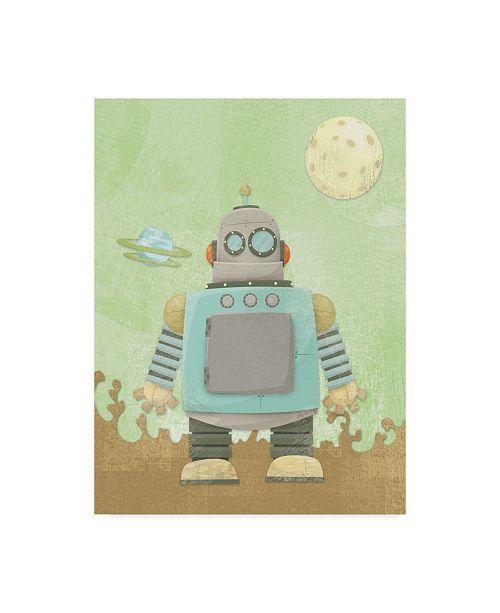 """Trademark Global Michael Murdock 'Kids Robot' Canvas Art - 24"""" x 32"""""""