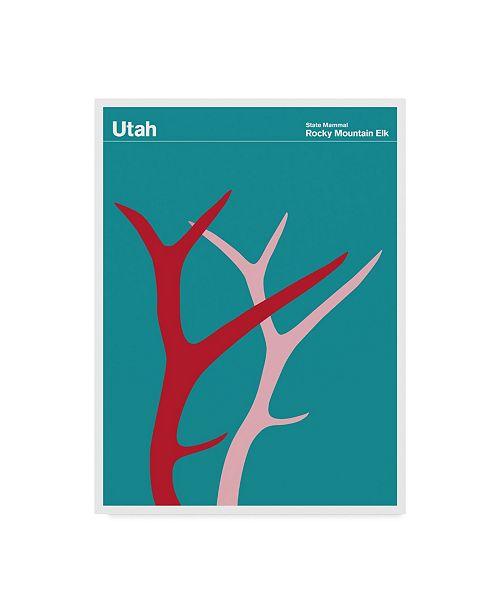"Trademark Global Print Collection - Artist 'Utah Rocky Mountain Elk' Canvas Art - 35"" x 47"""