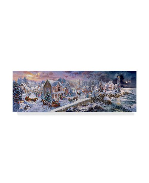 """Trademark Global Nicky Boehme 'Holiday At Seaside' Canvas Art - 24"""" x 8"""""""