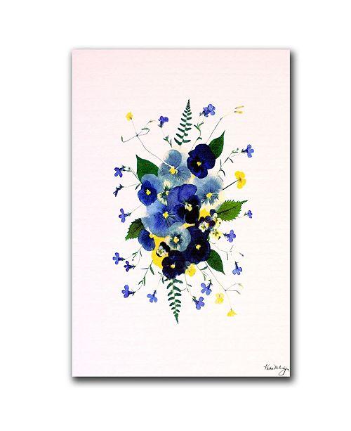 "Trademark Global Vivacious Violas by Kathie McCurdy Canvas Art - 24"" x 16"""