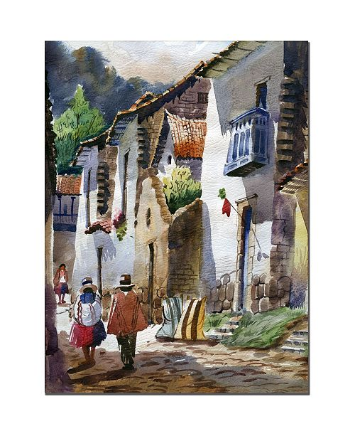 "Trademark Global Jimenez 'Cuzco III' Canvas Art - 24"" x 18"""