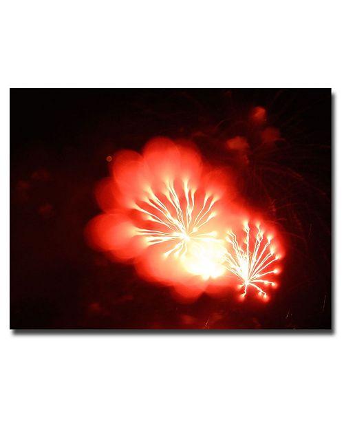"""Trademark Global Kurt Shaffer 'Abstract Fireworks VI' Canvas Art - 24"""" x 18"""""""