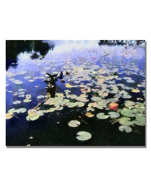 """Trademark Global Michelle Calkins 'Water Lilies in the River II' Canvas Art - 47"""" x 35"""""""
