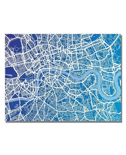 "Trademark Global Michael Tompsett 'London Map' Canvas Art - 24"" x 18"""