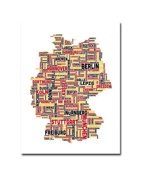 "Trademark Global Michael Tompsett 'Germany I' Canvas Art - 24"" x 18"""