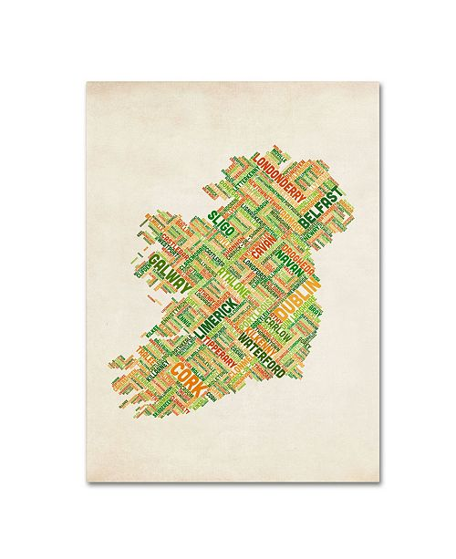 "Trademark Global Michael Tompsett 'Ireland I' Canvas Art - 24"" x 16"""