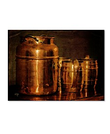 "Lois Bryan 'Copper Jugs' Canvas Art - 32"" x 22"""