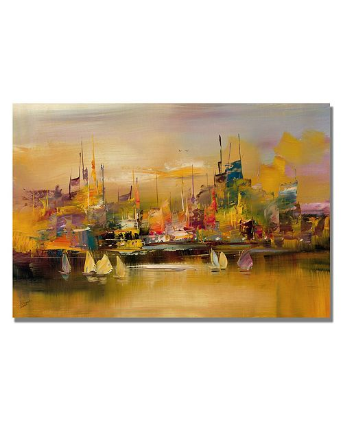 "Trademark Global Rio 'City Reflections V' Canvas Art - 47"" x 35"""