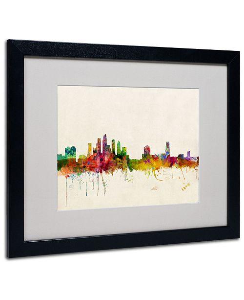 "Trademark Global Michael Tompsett 'Tampa, Florida' Matted Framed Art - 20"" x 16"""