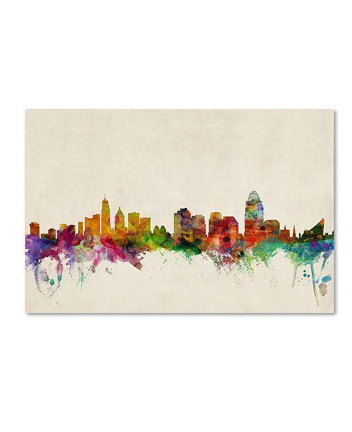"Trademark Global Michael Tompsett 'Cincinnati, Ohio' Canvas Art - 32"" x 22"""