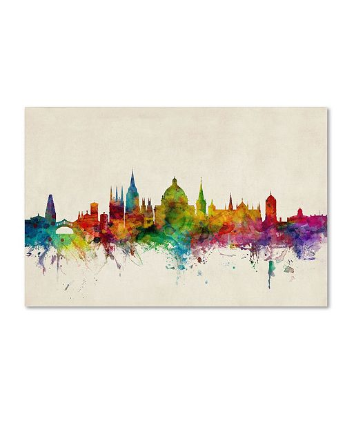 "Trademark Global Michael Tompsett 'Oxford England Skyline' Canvas Art - 24"" x 16"""