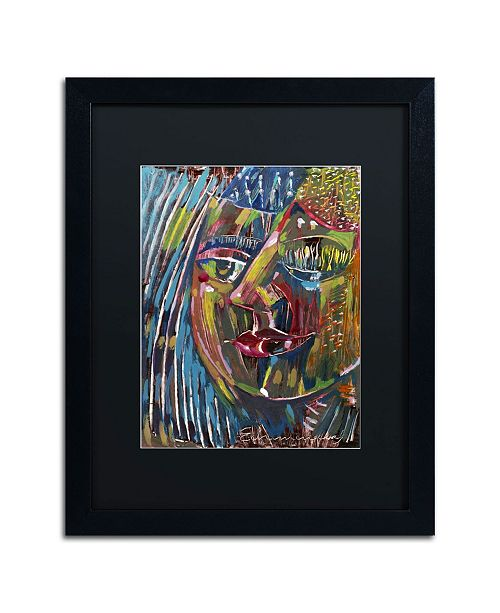 "Trademark Global Echemerdia 'Blues' Matted Framed Art - 20"" x 16"""