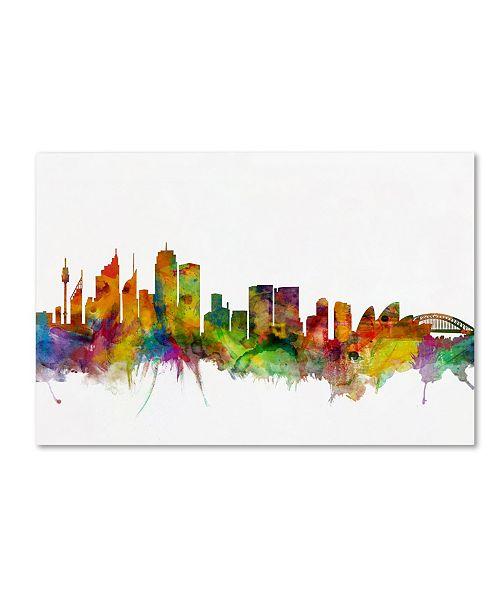 "Trademark Global Michael Tompsett 'Sydney Australia Skyline IV' Canvas Art - 22"" x 32"""