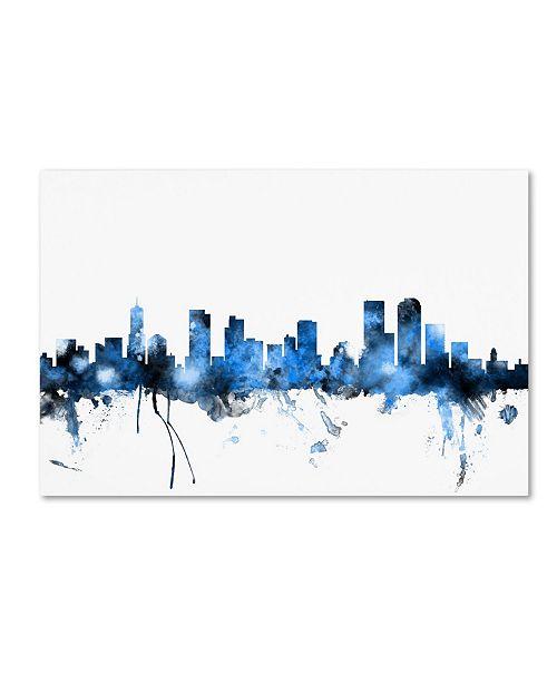"Trademark Global Michael Tompsett 'Denver Colorado Skyline III' Canvas Art - 22"" x 32"""