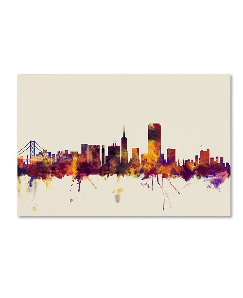 "Trademark Global Michael Tompsett 'San Francisco City Skyline IV' Canvas Art - 22"" x 32"""