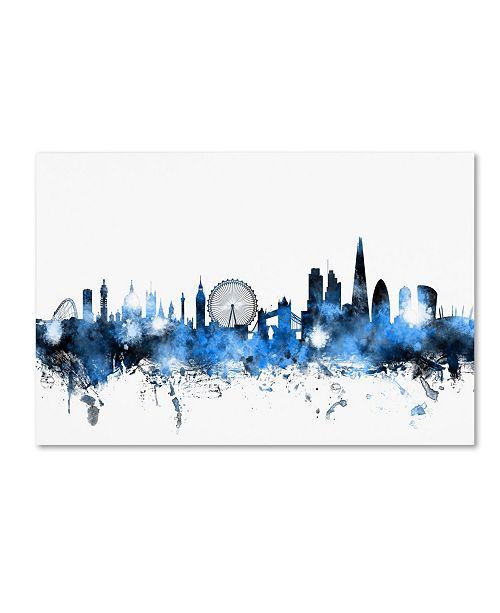 "Trademark Global Michael Tompsett 'London England Skyline' Canvas Art - 22"" x 32"""