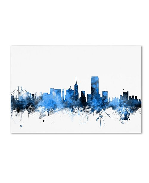 "Trademark Global Michael Tompsett 'San Francisco City Skyline II' Canvas Art - 22"" x 32"""