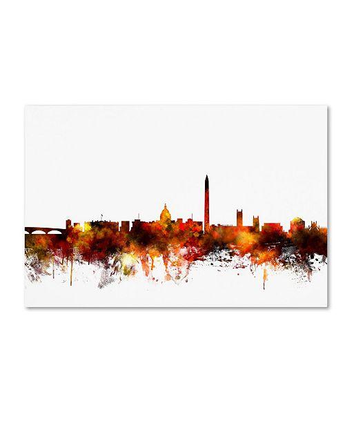 "Trademark Global Michael Tompsett 'Washington DC Skyline IV' Canvas Art - 22"" x 32"""