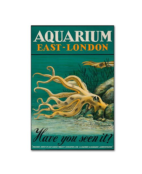 "Trademark Global Vintage Apple Collection 'Aquarium East London' Canvas Art - 12"" x 19"""