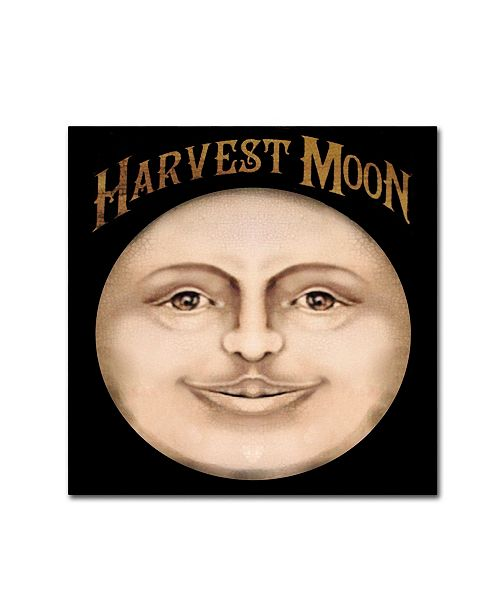 "Trademark Global Vintage Apple Collection 'The Harvest Moon' Canvas Art - 14"" x 14"""