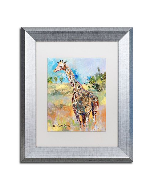 """Trademark Global Richard Wallich 'Giraffe' Matted Framed Art - 11"""" x 14"""""""