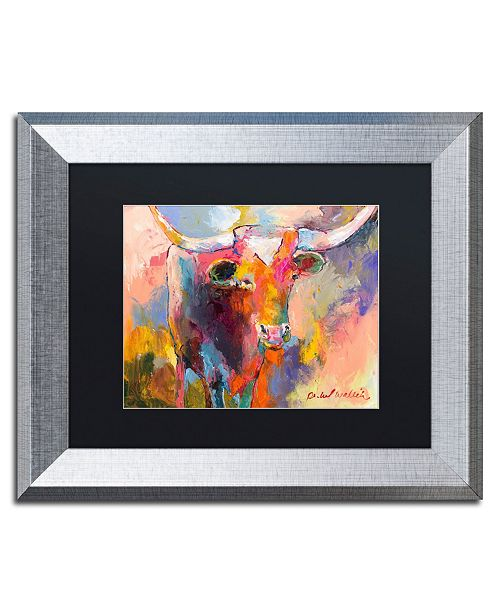 "Trademark Global Richard Wallich 'Steer' Matted Framed Art - 11"" x 14"""
