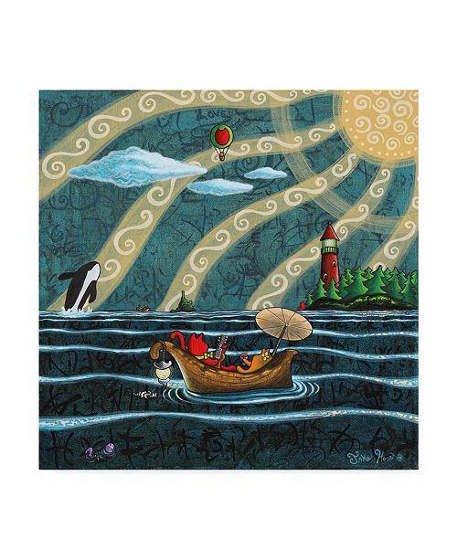 "Trademark Global Jake Hose 'Best Friends' Canvas Art - 14"" x 14"""