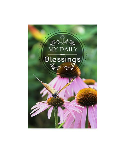 "Trademark Global Jean Plout 'My Daily Blessings' Canvas Art - 12"" x 19"""