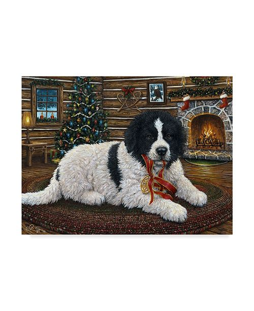 "Trademark Global Jeff Tift 'Christmas Companion' Canvas Art - 14"" x 19"""