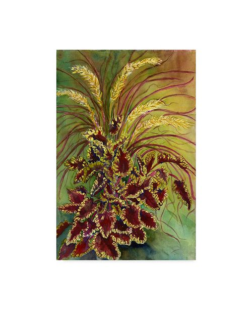 "Trademark Global Joanne Porter 'Coleus And Grasses' Canvas Art - 12"" x 19"""