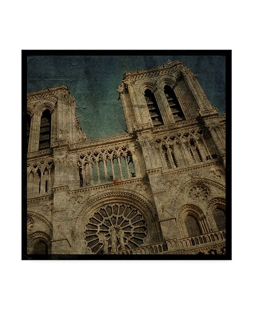 "Trademark Global John W. Golden 'Notre Dame' Canvas Art - 14"" x 14"""