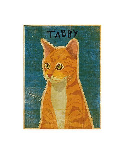 """Trademark Global John W. Golden 'Tabby' Canvas Art - 14"""" x 19"""""""