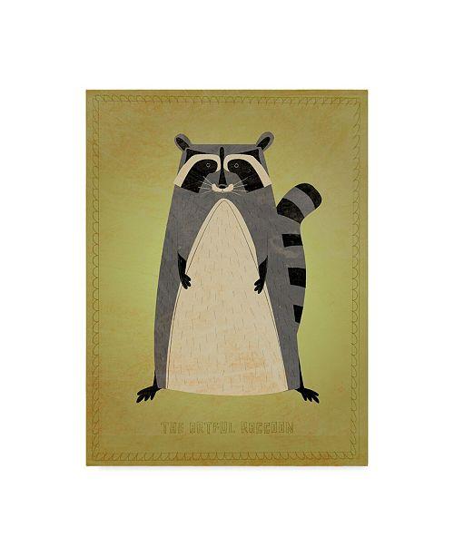 "Trademark Global John W. Golden 'The Artful Raccoon' Canvas Art - 14"" x 19"""