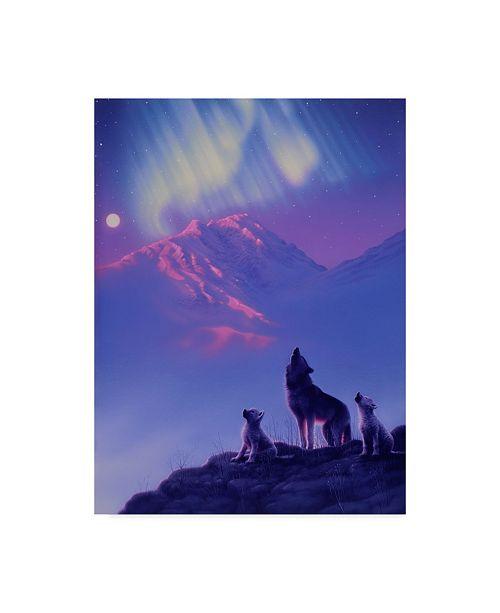 """Trademark Global Kirk Reinert 'Moon Song' Canvas Art - 14"""" x 19"""""""