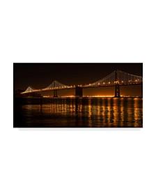 "Lance Kuehne 'Bay Bridge' Canvas Art - 10"" x 19"""
