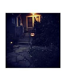 "Lance Kuehne 'Halloween Entryway' Canvas Art - 14"" x 14"""