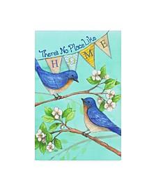 "Melinda Hipsher 'Home Blue Birds' Canvas Art - 12"" x 19"""