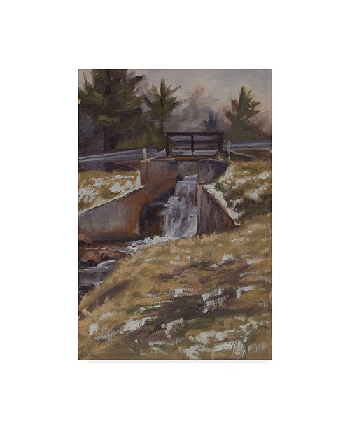 "Trademark Global Rusty Frentner 'Highland Rec Dam' Canvas Art - 12"" x 19"""