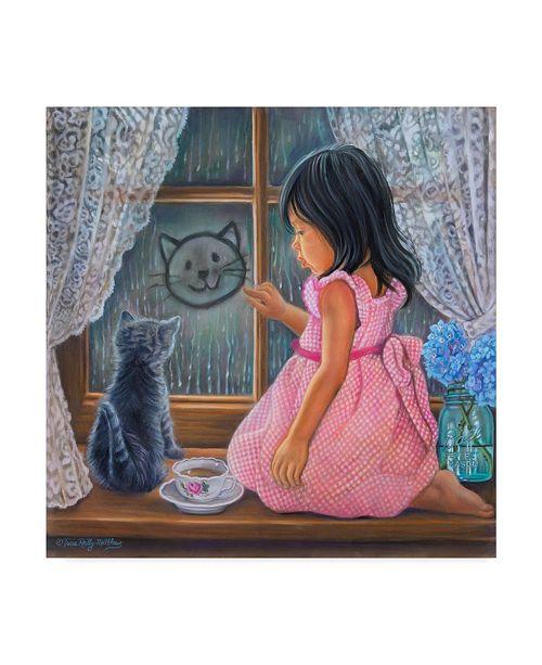 "Trademark Global Tricia Reilly-Matthews 'Rainy Day Sketch' Canvas Art - 14"" x 14"""