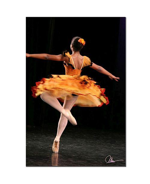 "Trademark Global Martha Guerra 'Ballerina' Canvas Art - 14"" x 19"""