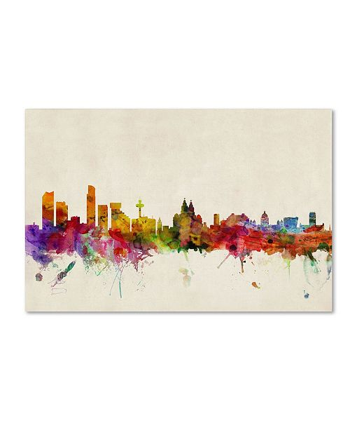 "Trademark Global Michael Tompsett 'Liverpool, England' Canvas Art - 12"" x 19"""