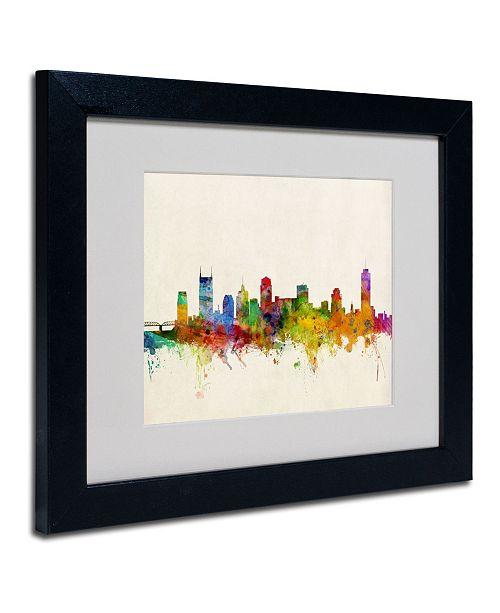 """Trademark Global Michael Tompsett 'Nashville Skyline' Matted Framed Art - 14"""" x 11"""""""