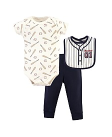 Little Treasure Bodysuit, Pant and Bib, 3 Piece Set, 0-9 months
