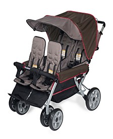 The LX4 4-Passenger / Dual Canopy Folding Stroller